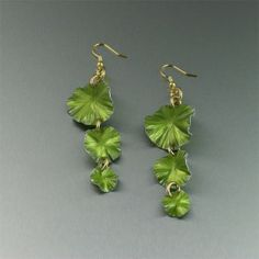 Lime Aluminum Lily Pad Earrings