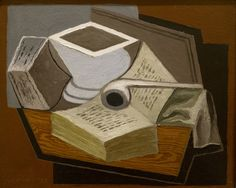 Juan Gris (1887-1927) Le livre ouvert (1925) musée des beaux-arts de Rennes (Ille-et-Vilaine, France)