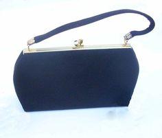 Chic vintage little black bag for evening or formal wear by BoxV