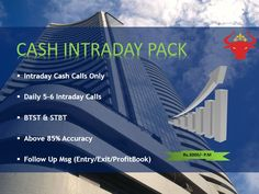 Cash Intraday Pack at just Rs 3000/month and get expert tips right at your home.
