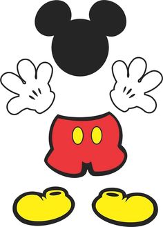 Mickey table decoration to print for free Mickey Mouse Classroom, Mickey Mouse Crafts, Mickey Mouse Decorations, Fiesta Mickey Mouse, Mickey Mouse Clubhouse Birthday, Mickey Mouse Parties, Mickey Birthday, Mickey Party, Birthday Crafts