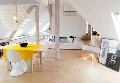 decoración nórdica escandinava decoración en blanco decoración de interiores decoración de áticos diseño decoración de Ático diáfano abuhard...