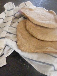 Homemade pita bread and pita chip recipe by The Complete Guide to Imperfect Homemaking.