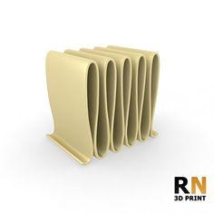High poly, 3D printable Desk File Holder.