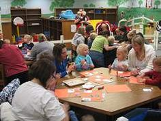 Craft time at Kansas Reads to Preschoolers program