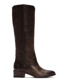 14ba34e1ecc5 Slate Ray Seam Tall Leather Boot  zulilyfinds Tall