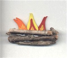Girl Scout Swap Ideas | Glue sticks together. (Extra credit if your fire has fuel in log cabin ...