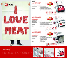 Make your own sausages, kebbe and any kind of grinded meat with the new Mr.Plus Meat Grinders!!