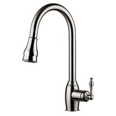 pH7® WE7003 1-hole Brass 360 degree Pull-down Kitchen Sink Faucet with Magnetic Sprayer