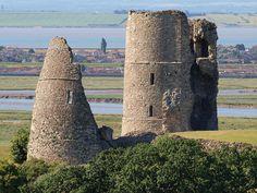 Hadleigh castle towers, via Flickr.