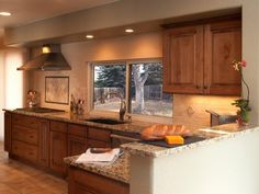Warm Colors, Sleek Finishes In Transitional Kitchen Stainless Steel  Appliances, Recessed Lighting And A
