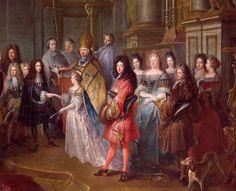 Marriage of Louis de France, Duke de Bourgogne and Marie-Adelaide de Savoie, 7 December 1697 by Antoine Dieu (Versailles)   Grand Ladies   gogm