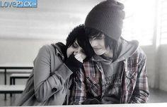 Emo Couple Love Fun Happy Romantic