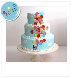 Torta decorata balloons, idea decorativa per  torta con palloncini. Acquista i prodotti necessari per metterti alla prova nella  creazione di questa decorazione. www.unoduetrefesta.it