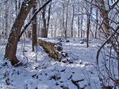 Old Barn Foundation Winter Snow 2010