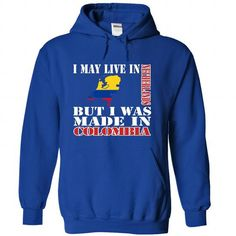 I May Live In Netherlands But I Was Made In Colombia - #hoodie drawing #neck sweater. HURRY => https://www.sunfrog.com/LifeStyle/I-May-Live-In-Netherlands-But-I-Was-Made-In-Colombia-sgfvsenxvk-RoyalBlue-Hoodie.html?68278