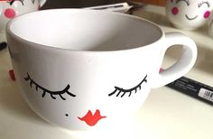Sharpie Paint, Easy Projects, Cricut, Mugs, Tableware, Diy, Painting, Interior, Painted Ceramics