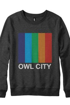 Color Bars Crewneck Sweatshirt (Heather Black) - Owl City - Official Online Store on District LinesDistrict Lines
