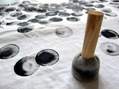 Tampon mousse pour fabriquer son propre tissu