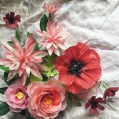 #moonflora #paperflowers