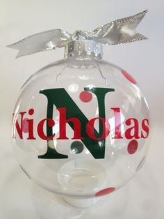 Personalized Christmas Ornament.
