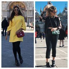 #modacomglamour Batalha de looks... Para turistar! Tivemos um dia livre em Veneza para passear mas @evelynregly e @niinasecrets não descuidaram do visual nem durante o time-off. Ambas garantiram conforto com as bolsinhas a tiracolo além de muito estilo com os óculos de sol fashionistas. Fica a dica hein? (Por @natfuzaro) #WeAreColorsBR  via GLAMOUR BRASIL MAGAZINE OFFICIAL INSTAGRAM - Celebrity  Fashion  Haute Couture  Advertising  Culture  Beauty  Editorial Photography  Magazine Covers…