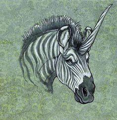 Zebracorn by ~caramitten on deviantART