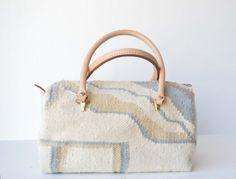 80's Handmade Wool Satchel Handbag on Etsy, $40.00
