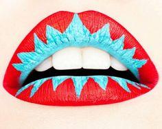 Colorful lip art for fashion girls #lip #art www.loveitsomuch.com