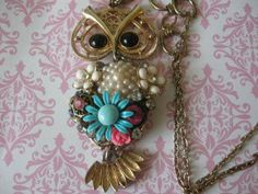 Shes so Shabby Chic..vintage assemblage necklace by originalnoell, $68.00
