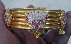 22 K solid gold bangle bracelet upper arm bracelet by TRIBALEXPORT, $5899.00
