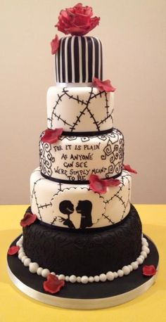 The NIghtmare Before Christmas Wedding cake . The NIghtmare Before Christmas Wedding cakeNightmare before Christmas wedding cake . This was my sisters wedding Halloween Wedding Cakes, Christmas Wedding Cakes, Halloween Cakes, Halloween Desserts, Disney Wedding Cakes, Diy Halloween, Halloween Themed Weddings, Purple Christmas Wedding, Halloween Costumes