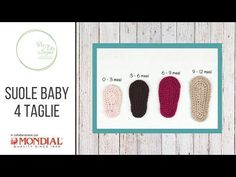 Tutorial - Suole baby 4 taglie - YouTube