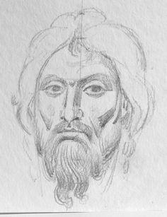 Photo Byzantine Icons, Byzantine Art, Religious Icons, Painting Process, Orthodox Icons, Drawing S, Fresco, Madonna, Sketches