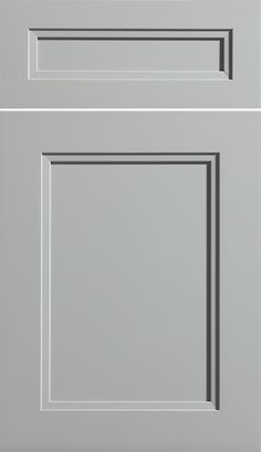 "Dura Suprem Cabinetry ""Dalton"" cabinet door style shown in Paintable wood with Zinc gray paint finish"