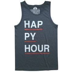 Happy Hour Tank Navy Heather, $22, now featured on Fab.