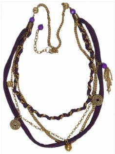 "$24.99 JousJous Color of Purple Handmade Necklace, 32"" Long JousJous #necklance #gifts #designer"