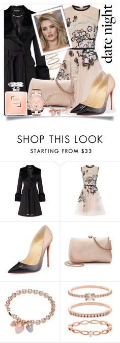 """""""date night"""" by teto000 ❤ liked on Polyvore featuring Miss Selfridge, Elie Saab, Christian Louboutin, Whiteley, LC Lauren Conrad, Buckley, Accessorize, Michael Kors, DateNight and dress"""