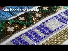 BeadSmith's YouTube Channel instructs how to use different size beads on the loom.     www.thecreativefringe.com