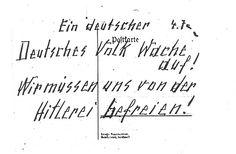 ¡Pueblo alemán, despierta! Postal del matrimonio Hampel