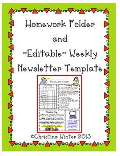 6th grade homework folders