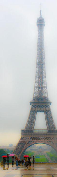 Eiffel Tower and Umbrellas