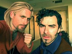 Dean O'Gorman and Aidan Turner as Tulio and Miguel from El Dorado