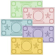 Play money to customize  I'm going to use these to insert site words