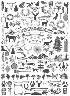 Tenting Clipart, Animal Clipart – Nature Rustic Journey Wilderness Looking Clipart Clip Artwork PNG & Vector EPS, AI Design Parts Obtain Unique Tattoos, Small Tattoos, Tattoos For Guys, Mom Tattoos, Png Vector, Camping Clipart, Travel Baby Showers, Clip Art, Lettering Styles