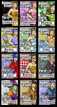 Left Field: Bombshell DT Time and the Birth of the Digital Diva Bombshells, Handmade Cards, Birth, Diva, Pin Up, Stamps, Angel, Digital, Funny