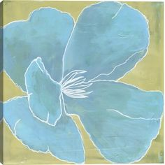 7839bf32a41 Color Study I Floral Canvas Wall Art Print by Laura Gunn