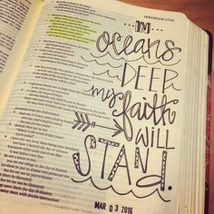 No color today but I love this verse. We do not fear and are not anxious for our trust is in the Lord. by macro_mama Bible Study Journal, Scripture Study, Bible Art, My Bible, Prayer Journals, Art Journaling, Bible Doodling, Bujo Inspiration, Bible Studies
