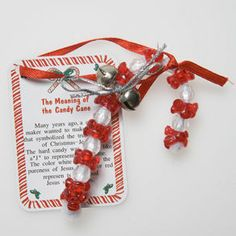 "Candy Cane meaning-- craft for ""The Legend of the Candy Cane."""
