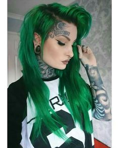 INSPIRED BY THE EMERALD GREEN COLOR, DENSITY, AND CUT OF THE BANG. THIS COLOR IS IDEAL